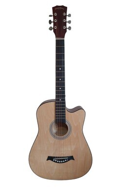 Acoustic Guitar 38 inch for Beginners, Children, Small hand adults Natural SPS335