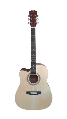 Left handed Acoustic Guitar for beginners, Students Natural Full Size SPS338LF