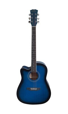 Left handed Acoustic Guitar for beginners, Students Blue Full Size SPS339LF