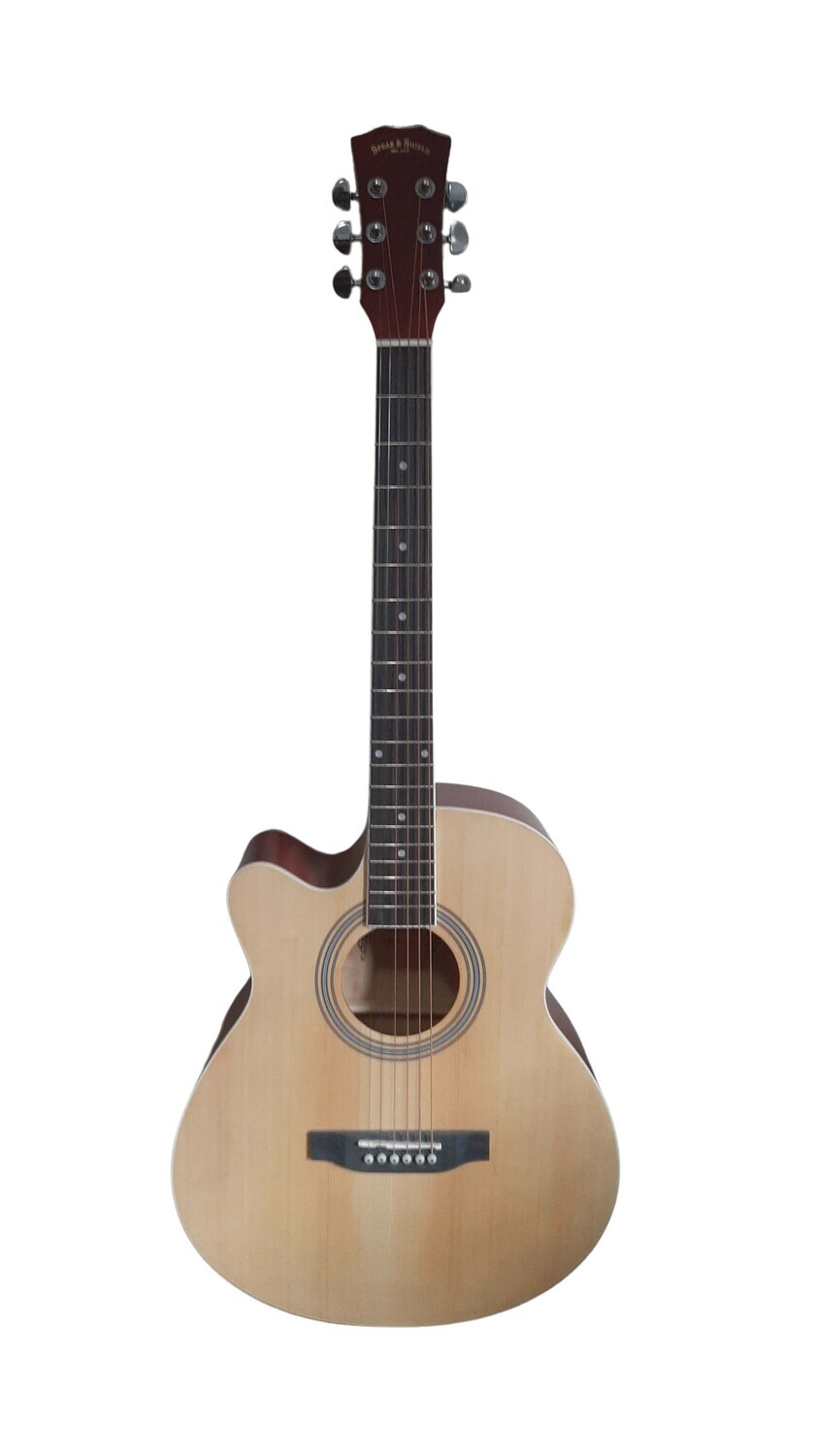 Left handed Acoustic Guitar for beginners, Students 40 inch Full Size Natural SPS374LF