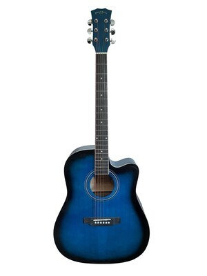 Acoustic Guitar for beginners, Students Blue Full Size SPS372