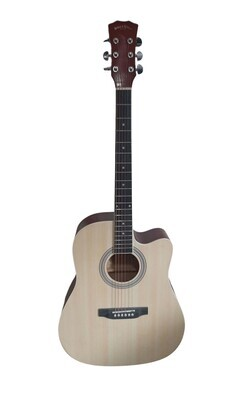 Acoustic Guitar for beginners, Students Natural Full Size SPS371