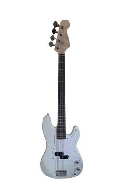 Bass Guitar for Beginners Regular Size White SPS514
