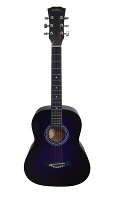 Left handed Acoustic Guitar 3/4 size for Beginners, Kids Purple SPS391LF
