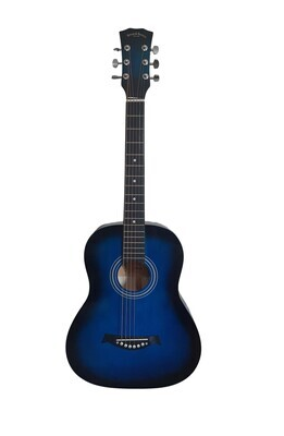 Acoustic Guitar 3/4 size for Beginners, Kids Blue SPS393