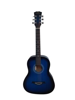 Left handed Acoustic Guitar 3/4 size for Beginners, Kids Blue SPS390LF