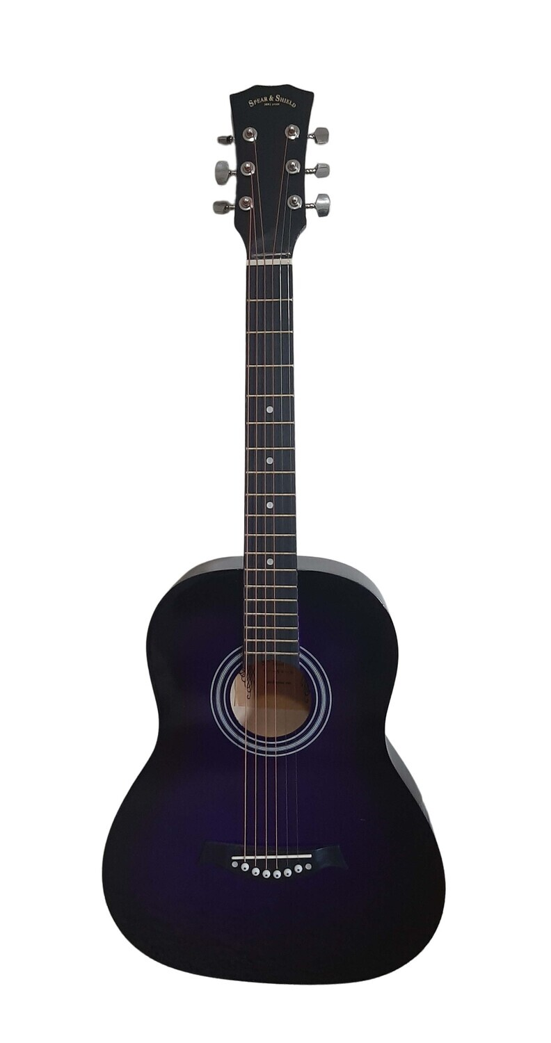Acoustic Guitar 36.5 inch for Beginners, Kids Purple SPS394