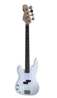 Left handed Bass Guitar for Beginners Regular Size White SPS512LF