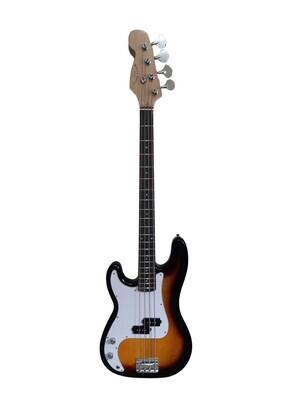 Left handed Bass Guitar for Beginners Regular Size Sunburst SPS510LF