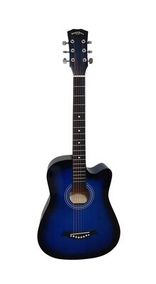 Acoustic Guitar 38 inch for Beginners, Children, Small hand adults Blue SPS336