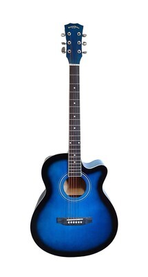 Acoustic Guitar for beginners, Students 40 inch Full Size Blue SPS378