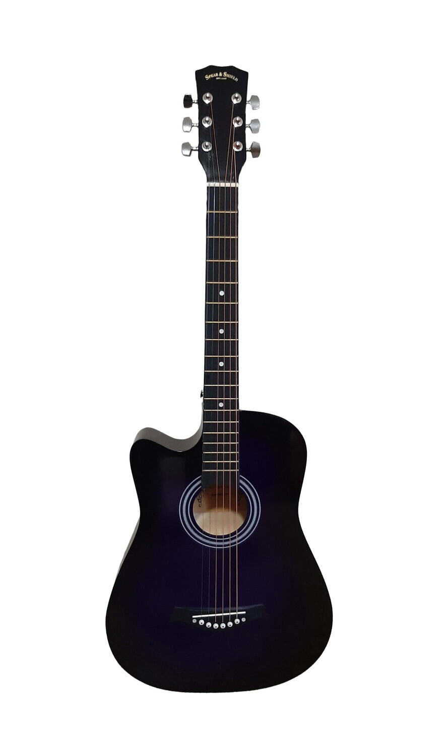 Left handed Acoustic Guitar 38 inch for Beginners, Children, Small hand adults Purple SPS332LF