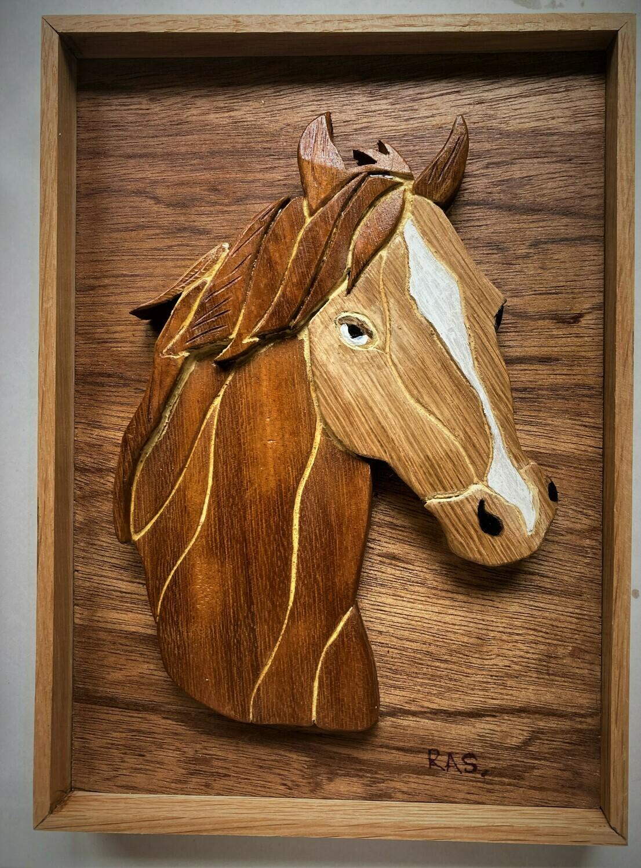Intarsia Horse