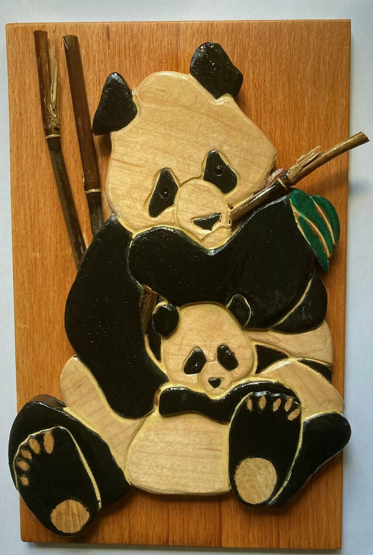 Intarsia Panda