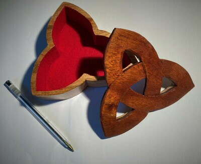 Bandsaw box in the shape of a Triquetra