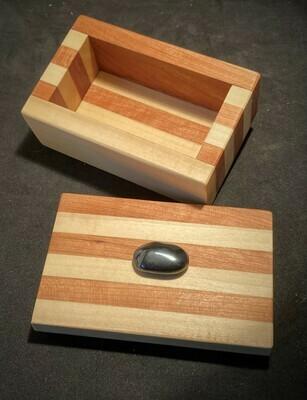Bandsaw box coloured hardwood strips