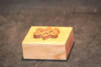 Bandsaw box hardwood with celtic knot
