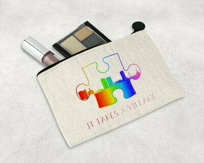 It Takes a Village Prism Puzzle Zipper Pouch