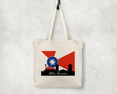 Autism Awareness ICT Skyline Shopping Tote