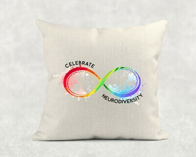 Celebrate Neurodiversity Linen Throw Pillowcase