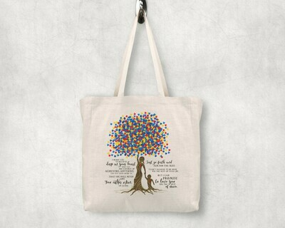 Autism Tree Shopping Tote