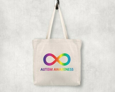 Autism Awareness Infinity Shopping Tote