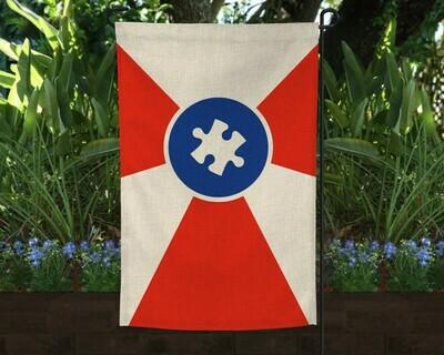 Autism ICT Flag Garden Flag