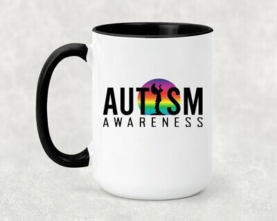 Autism Keeper of the Plains Rainbow Sun Coffee Mug