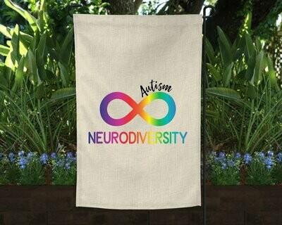 Autism Neurodiversity Garden Flag