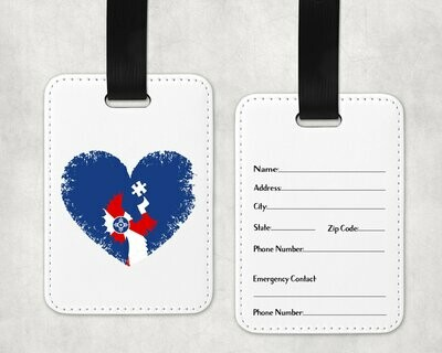 Autism Heart Keeper of the Flag Bag Tag