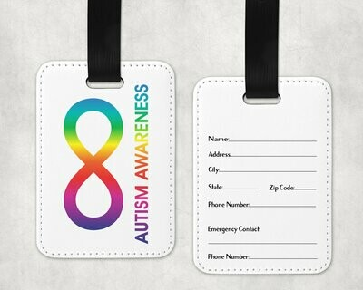 Autism Awareness Infinity Bag Tag