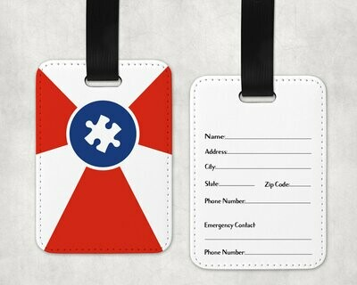 Autism ICT Flag Bag Tag