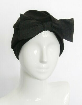 Banded Oncology Turban-Noir