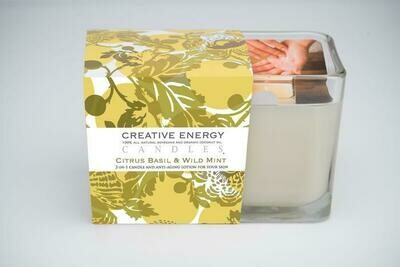 Creative Energy Candle Citrus Basil & Wild Mint