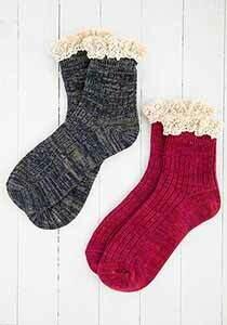Natural Life Ruffle Socks
