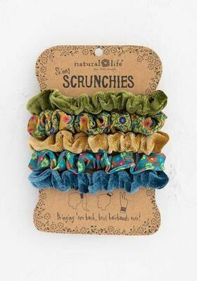 Natural Life Velvet Skinny Scrunchie