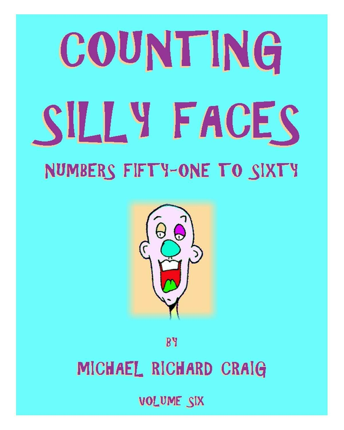 Counting Silly Faces E-Flipbook Numbers 51-60