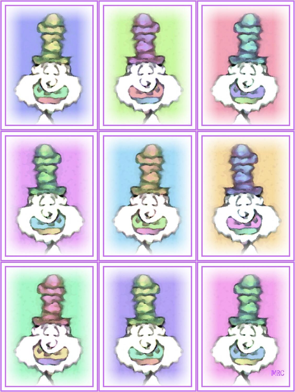 Silly Face Nine Clown Print