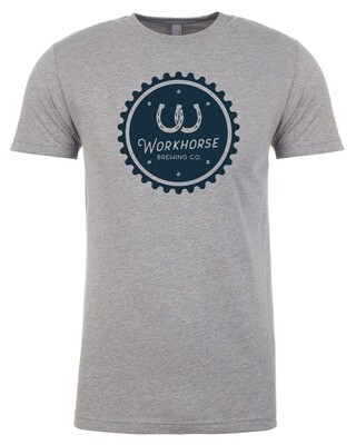 Gray Gear Cap Logo Tee