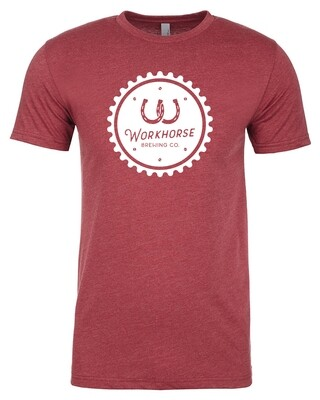 Red Gear Cap Logo Tee
