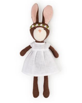 Zoe Rabbit, Snow Linen Dress and Flower Crown