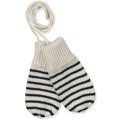 Striped Wool Baby Mittens