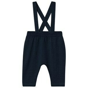 Baby Pants with Suspenders - Navy