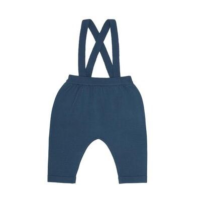 Baby Pants with Suspenders - Petrol