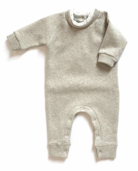 Lace Baby Playsuit - Beige