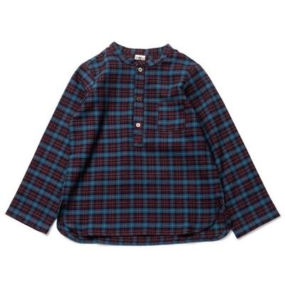 Boys Shirt - Bordeaux Check