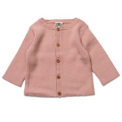Baby Cardigan-Velvet Pink