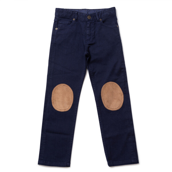 Boys Pants with patches- Blue