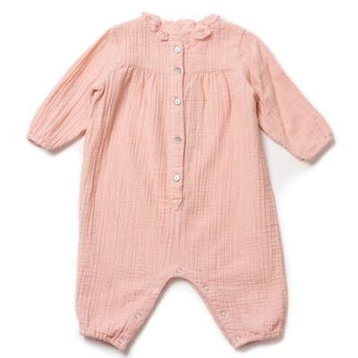Sol Cotton Muslin Playsuit Pink