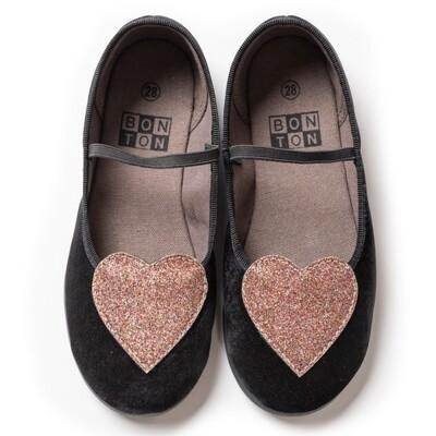 Heart Shoes - Black